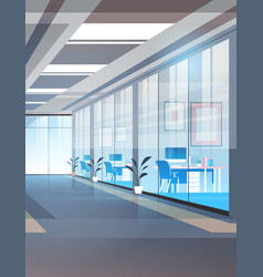 empty coworking area no people open space modern vector image