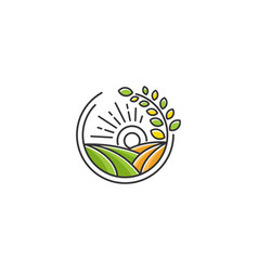 farm icon template vector image