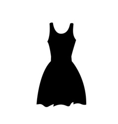 flat black dress icon or silhouette isolated on vector image