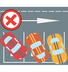 Flat design modern of parking a car instruction vector