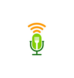 fork podcast logo icon design vector image