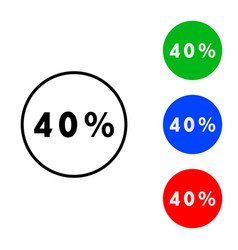forty percent icon vector image