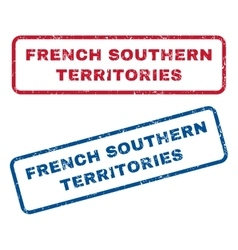 French Southern Territories Rubber Stamps vector