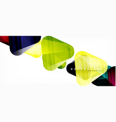 Glass triangles modern geometric composition vector