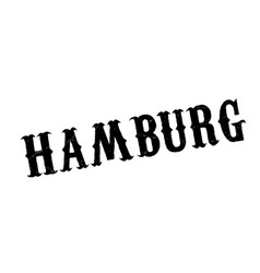 hamburg rubber stamp vector image