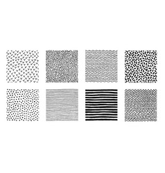 Hand drawn patterns doodle design vector