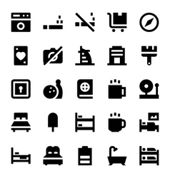 Hotel Services Icons 4 vector image
