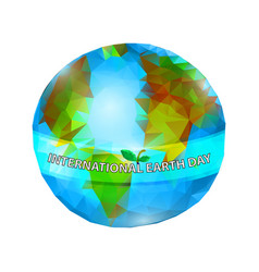 International earth day planet earth 22 april vector