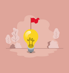 light bulb with flag vector image