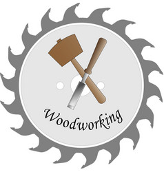 Logo for the wood craft vector