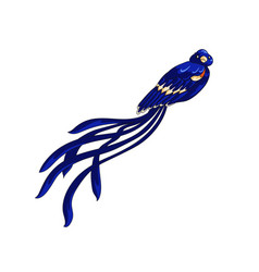 Long-tailed weaver exotic bird icon vector