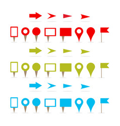 map pins and arrows vector image
