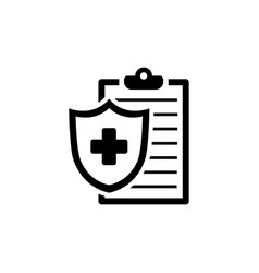 medical insurance icon health insurance symbol vector image