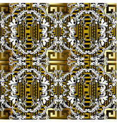 modern baroque seamless pattern gold ornamental vector image