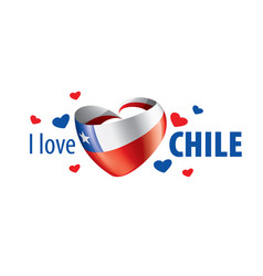 national flag chile and inscription vector image