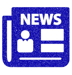 News icon grunge watermark vector