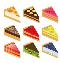 Nine cakes vector