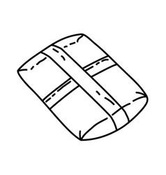 package icon doodle hand drawn or outline icon vector image