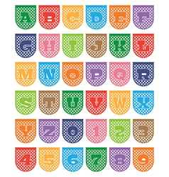 Paper bunting alphabet vector