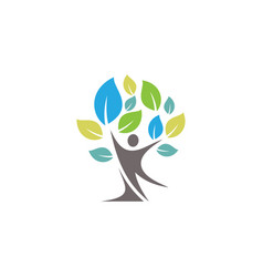 people tree symbol vector image