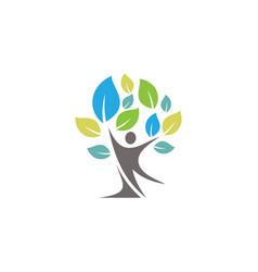 People tree symbol vector