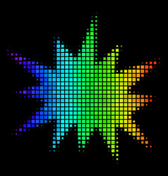Rainbow dotted bang icon vector