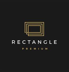 rectangle logo icon vector image