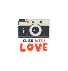 retro camera t-shirt vintage hand drawn vector image