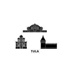 russia tula flat travel skyline set russia tula vector image