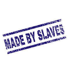 Scratched textured made by slaves stamp seal vector