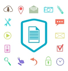 set of colored web icons with shield vector image