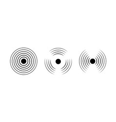 signal sound wave icon circle pulse sonic vector image