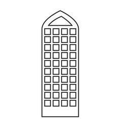Silhouette of building skyscraper with modern vector