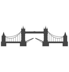silhouette of tower bridge in london vector image