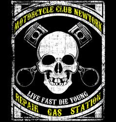 Skull t shirt graphic design vector