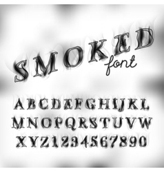 Smoked font set vector image
