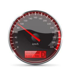 Speedometer 90 km per hour vector