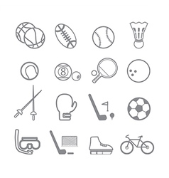Sports icons line vector image