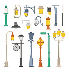 street lamps and lamp posts vector image