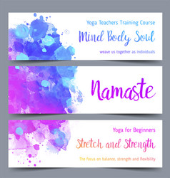 Stretch and strength yoga card design colorful vector
