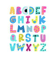 Summer alphabet vector