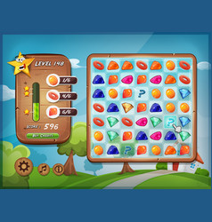 switcher game user interface for tablet pc vector image
