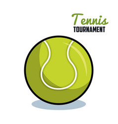 Tennis sport ball isolated icon vector