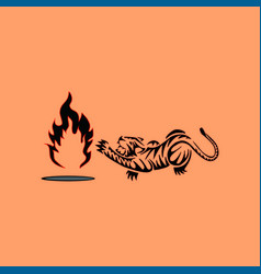 Tiger with fire vector
