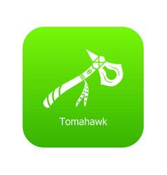 Tomahawk icon green vector