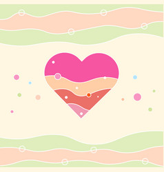 valentines heart happy valentine s day card vector image