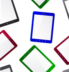 Vertical Tablet computer seamless wallpaper vector image