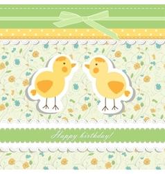 Vintage doodle bird chicken vector image