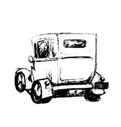 vintage hand drawn retro car vector image