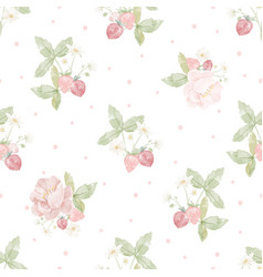 watercolor hand drawn pink peony flower vector image